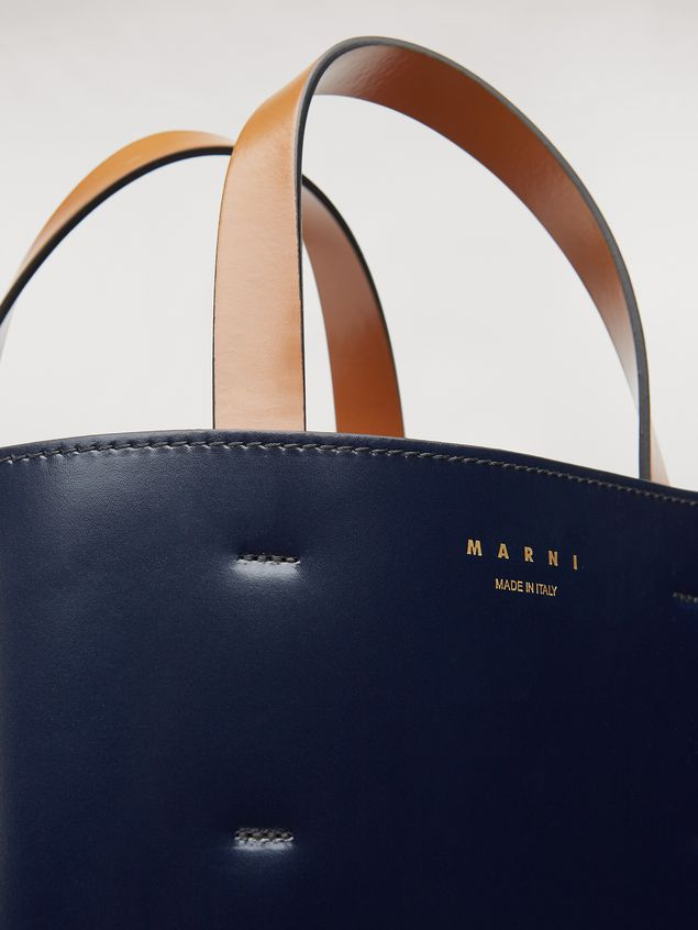 Marni MUSEO bag in calfskin blue Woman - 4