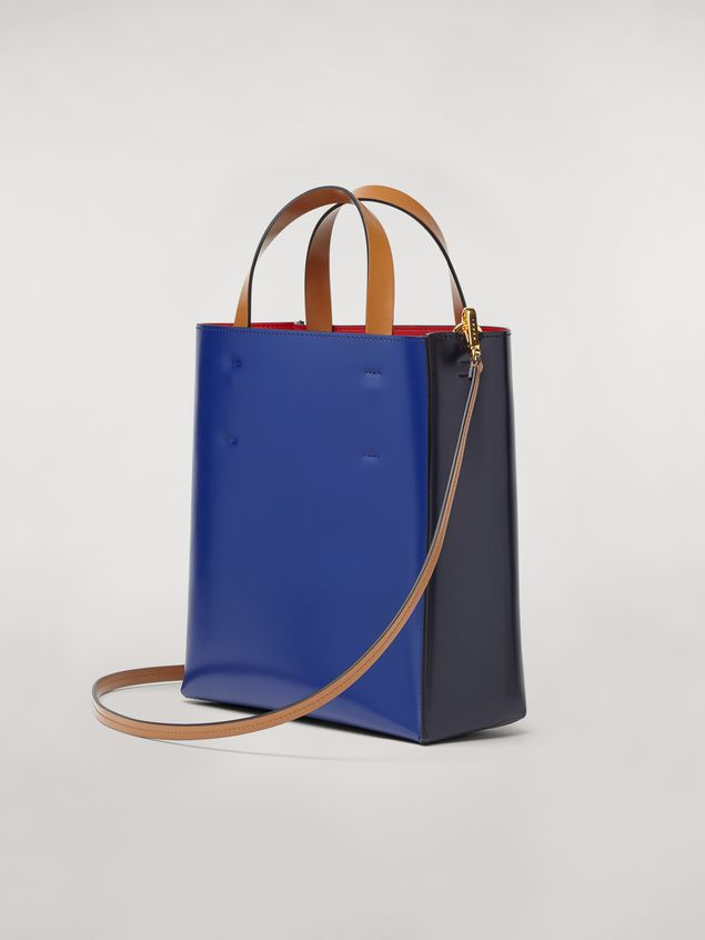 Marni MUSEO bag in calfskin blue Woman - 3