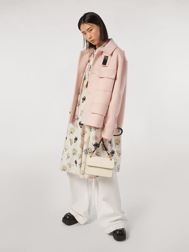 Marni NEW BEAT bag in white calfskin with Marni logo shoulder strap Woman - 2