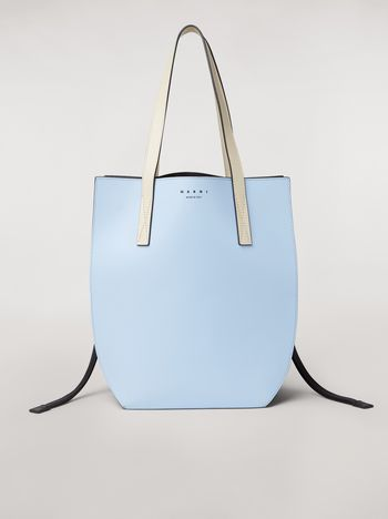 Marni GUSSET bag in pale blue and brown calfskin  Woman f