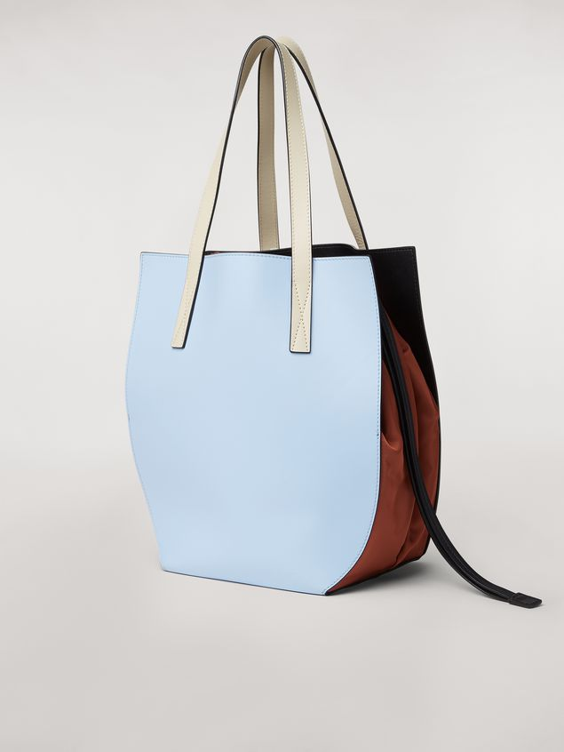 Marni GUSSET bag in pale blue and brown calfskin  Woman