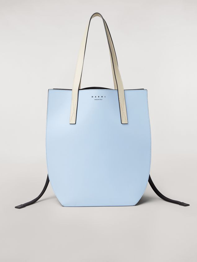 Marni GUSSET bag in pale blue and brown calfskin  Woman - 1
