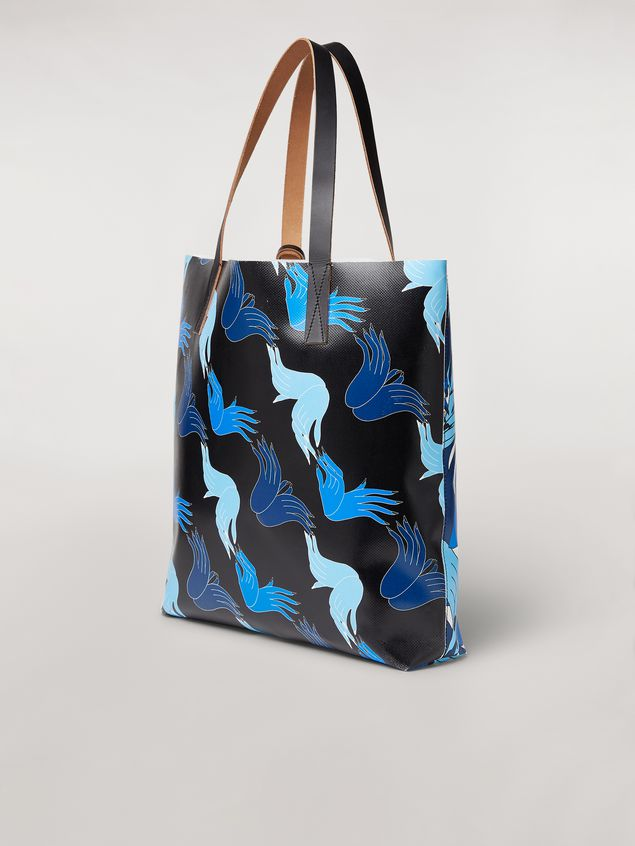 Marni Borsa SHOPPING in PVC stampa by Bruno Bozzetto Donna - 3