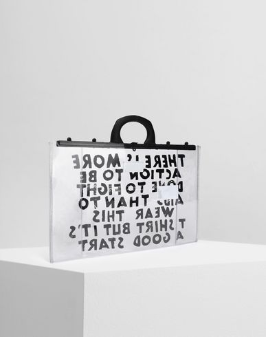 BAGS Charity AIDS-print PVC tote Transparent