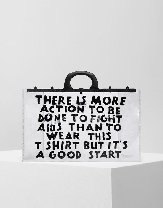 MM6 MAISON MARGIELA Charity AIDS-print PVC tote Tote [*** pickupInStoreShipping_info ***] f