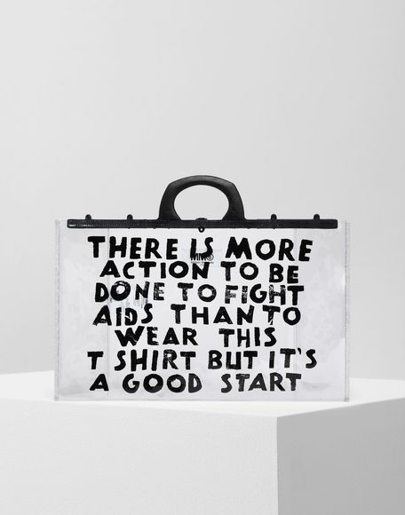 MM6 MAISON MARGIELA Charity AIDS-print PVC tote Tote Woman f