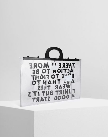 MM6 MAISON MARGIELA Charity AIDS-print PVC tote Tote Woman r
