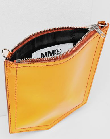 BAGS Metallic pocket bag  Rust