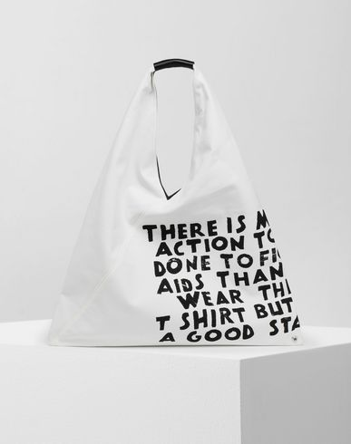 MM6 MAISON MARGIELA Handbag [*** pickupInStoreShipping_info ***] Charity AIDS-print Japanese bag f