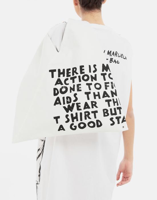 MM6 MAISON MARGIELA Charity AIDS-print Japanese bag Handbag [*** pickupInStoreShipping_info ***] b