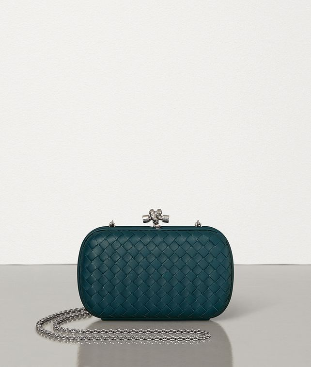 BOTTEGA VENETA CHAIN KNOT IN INTRECCIATO NAPPA Clutch Woman fp