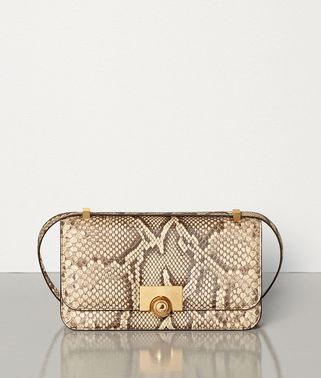 SHOULDER BAG IN PYTHON LEATHER