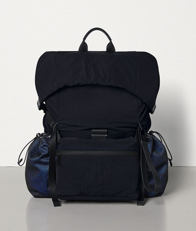 BOTTEGA VENETA MEDIUM BACKPACK IN PAPER TOUCH NYLON Backpack Man fp