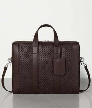 BRIEFCASE IN PERFORATED MATT CALFSKIN