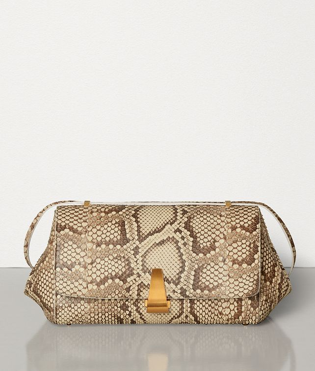 BOTTEGA VENETA BV ANGLE BAG IN PYTHON LEATHER Shoulder Bag Woman fp