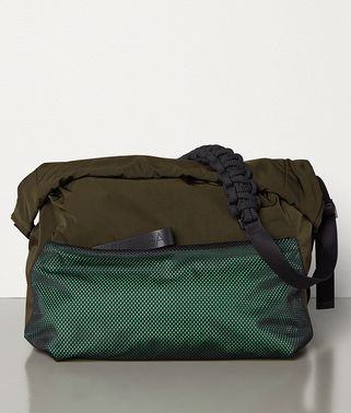 LARGE MESSENGER BAG IN PAPER TOUCH NYLON