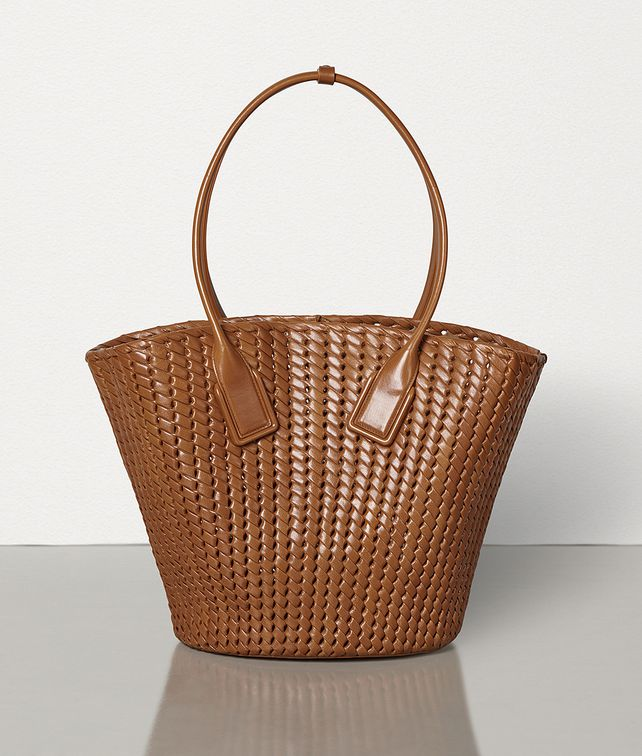 BOTTEGA VENETA MEDIUM BASKET TOTE IN INTRECCIO RETE Tote Bag Woman fp