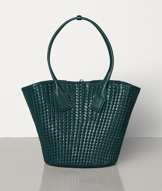 BOTTEGA VENETA MEDIUM BASKET TOTE IN INTRECCIO RETE Tote Bag Woman fp