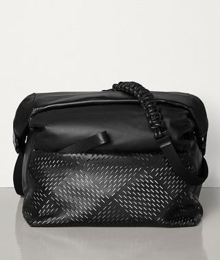 MESSENGER BAG IN PERFORATED PAPER CALFSKIN