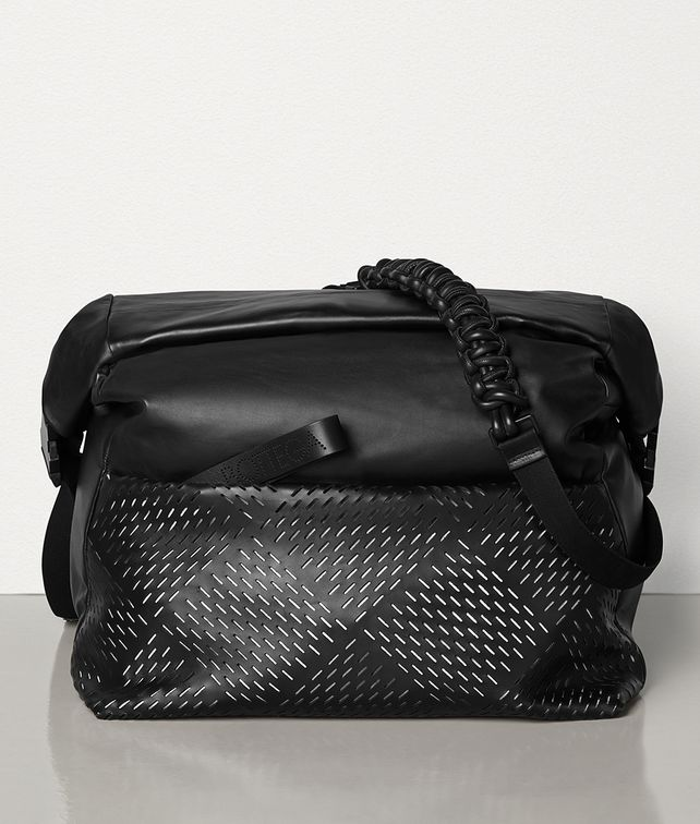 BOTTEGA VENETA MESSENGER BAG IN PERFORATED PAPER CALFSKIN Messenger Bag Man fp