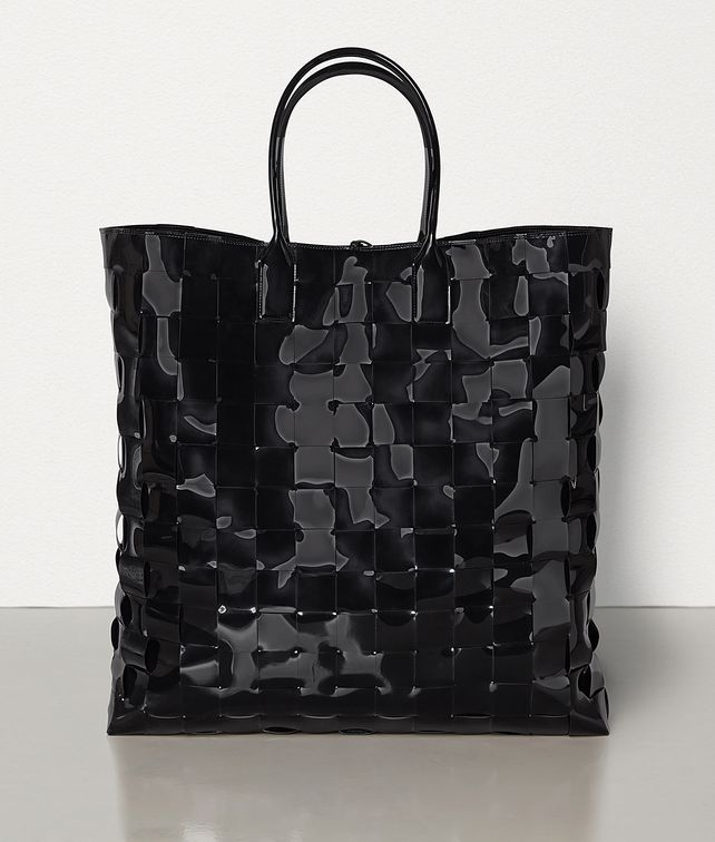 BOTTEGA VENETA EXTRA-LARGE MAXI INTRECCIO TOTE IN LACQUER Tote Bag Woman fp