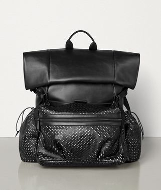 MEDIUM BACKPACK IN PERFORATED PAPER CALF