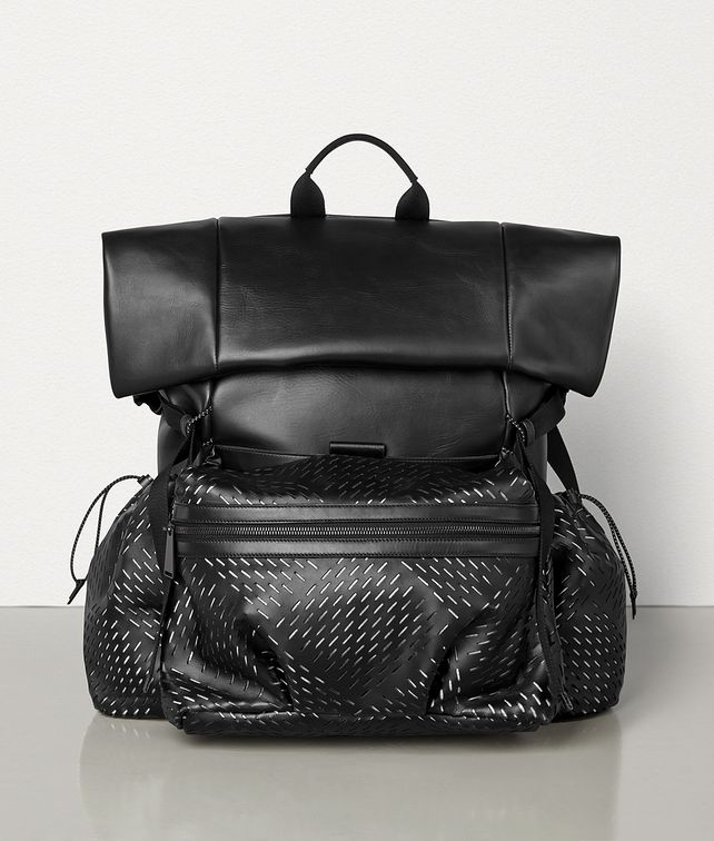 BOTTEGA VENETA MEDIUM BACKPACK IN PERFORATED PAPER CALFSKIN Backpack Man fp