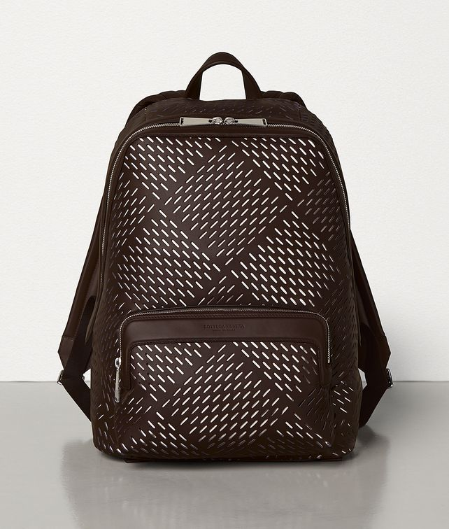 BOTTEGA VENETA MEDIUM BACKPACK IN PERFORATED MATT CALFSKIN Backpack Man fp
