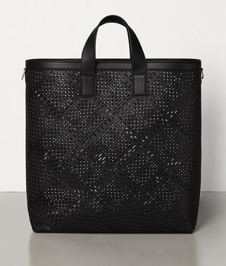 LARGE TOTE IN PERFORATED MATT CALFSKIN