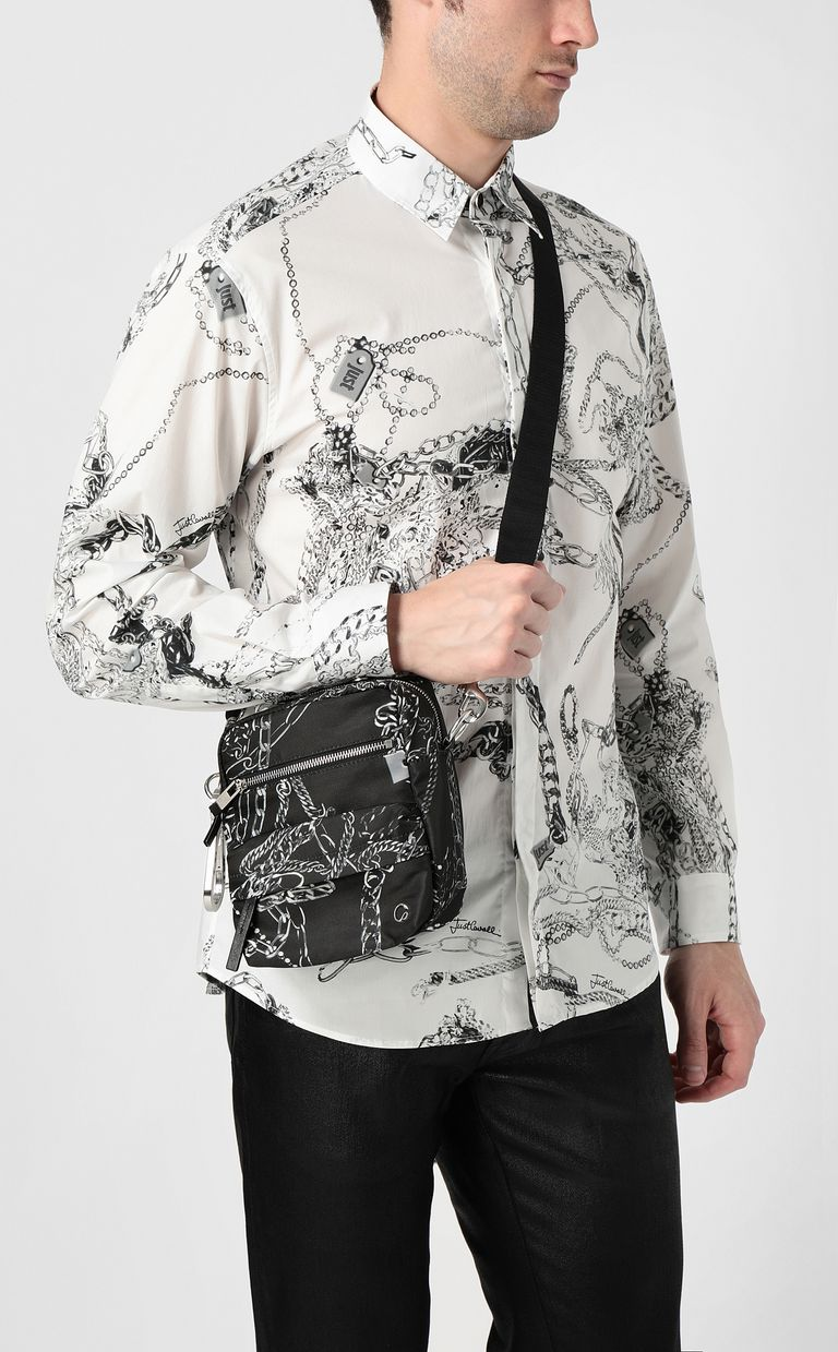 JUST CAVALLI Chains shoulder bag Crossbody Bag Man d