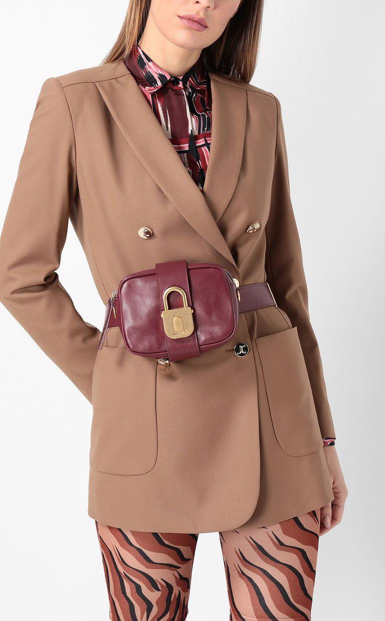 JUST CAVALLI Belt bag with padlock buckle Crossbody Bag Woman d