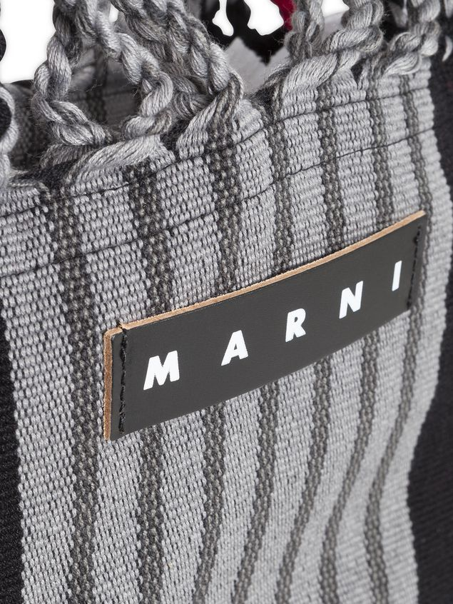Marni MARNI MARKET shopping bag in gray, turquoise and red polyester with hammock-like handle  Man - 4