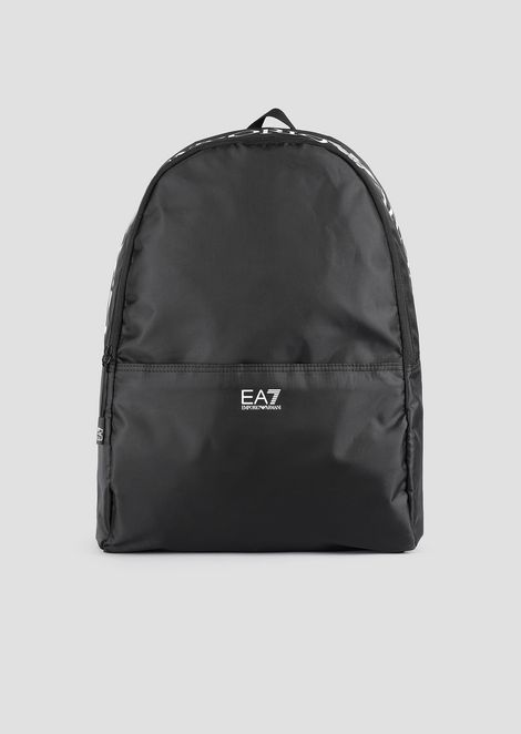 Training backpack with maxi-logo print
