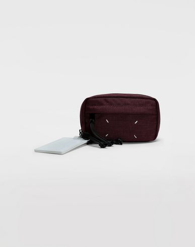 BAGS 4-stitches zip-around bumbag Maroon