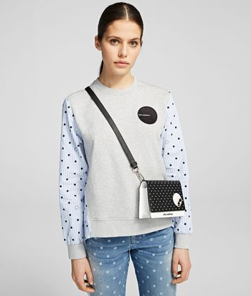 KARL LAGERFELD K/DOTS CROSSBODY DOUBLE POUCH