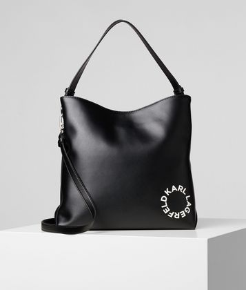 KARL LAGERFELD K/DOTS MEDIUM HOBO BAG