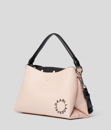 KARL LAGERFELD K/DOTS SMALL HOBO BAG
