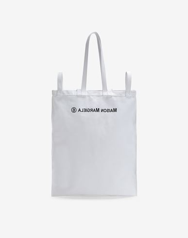 BAGS Inside out logo bag White