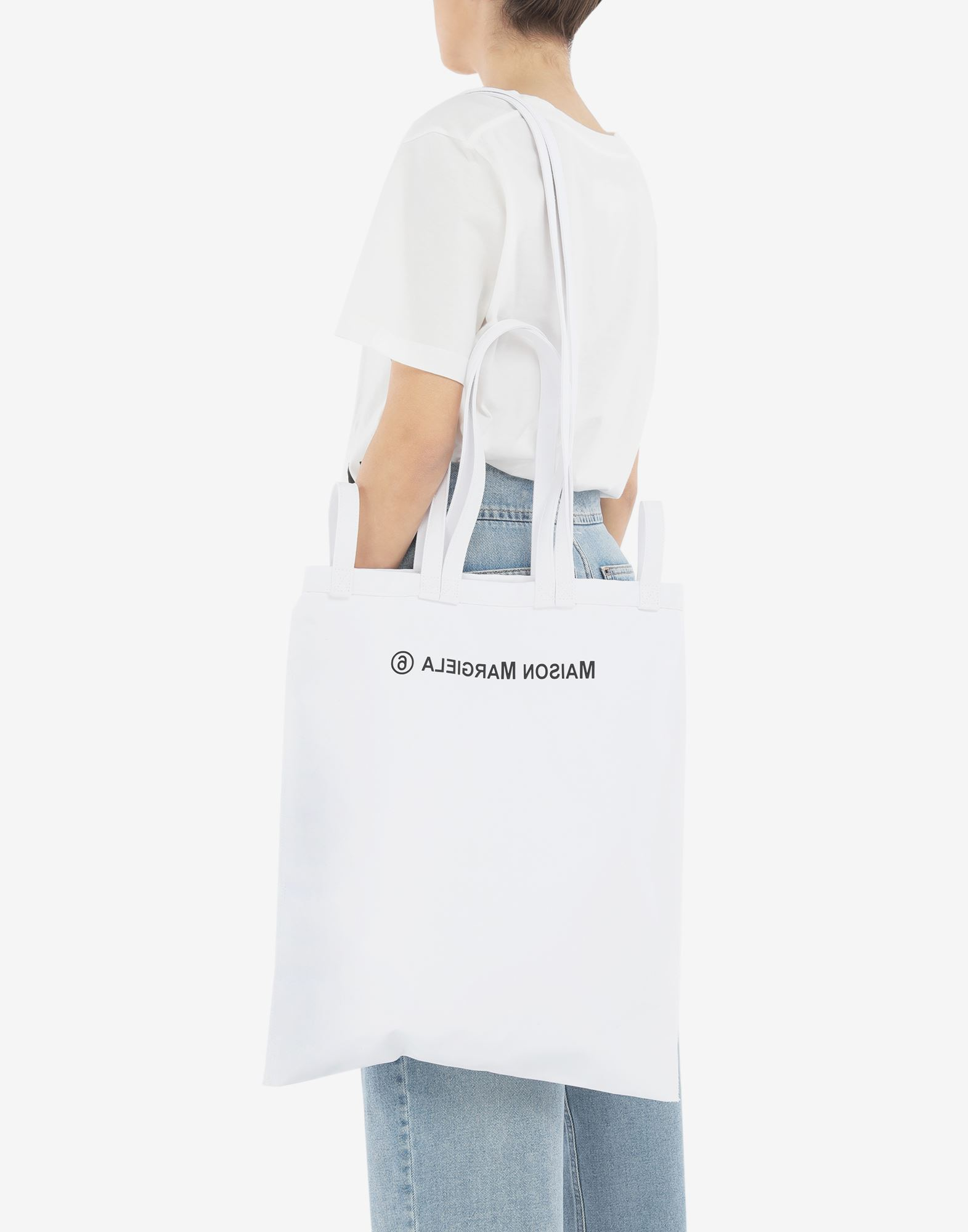 MM6 MAISON MARGIELA Inside out logo bag Tote Woman r