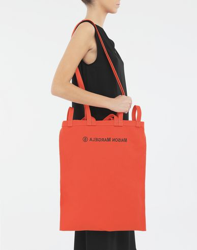 BAGS Inside out logo bag Orange