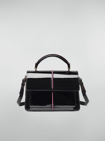Marni ATTACHE' crossbody bag in lambskin patent leather Woman f