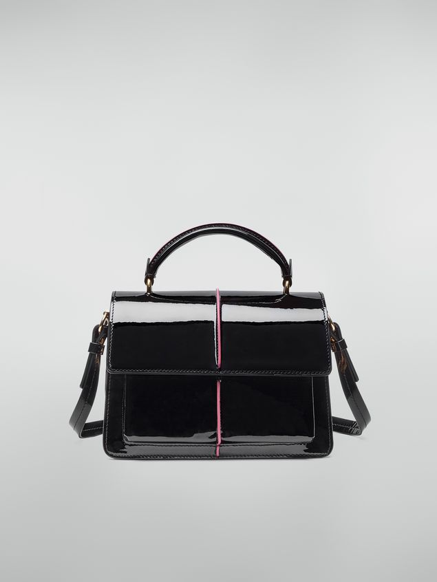 Marni ATTACHE' crossbody bag in lambskin patent leather Woman - 1