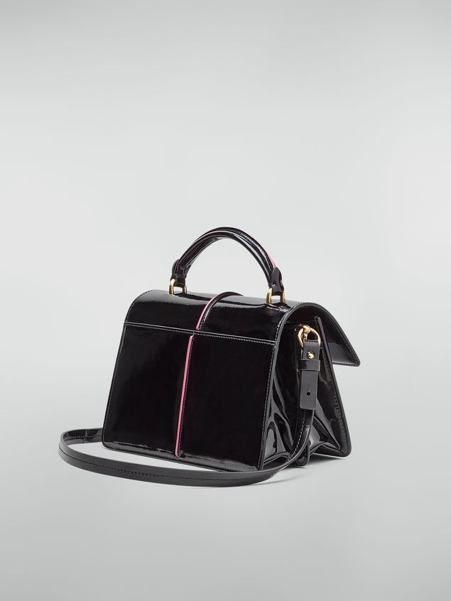 Marni ATTACHE' crossbody bag in lambskin patent leather Woman - 3