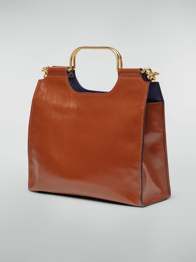 Marni MARCEL handbag in goat-print calfskin brown Woman