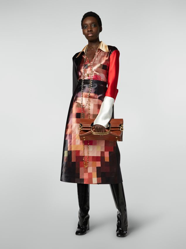 Marni MARCEL handbag in goat-print calfskin brown Woman - 2