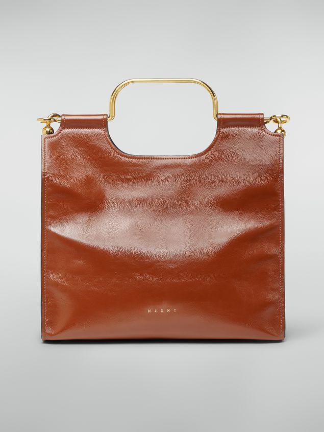 Marni MARCEL handbag in goat-print calfskin brown Woman - 1