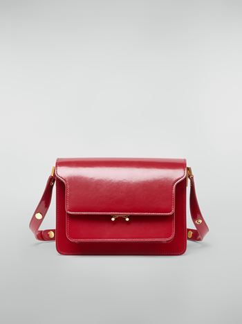 Marni TRUNK bag in red polished calfskin Woman