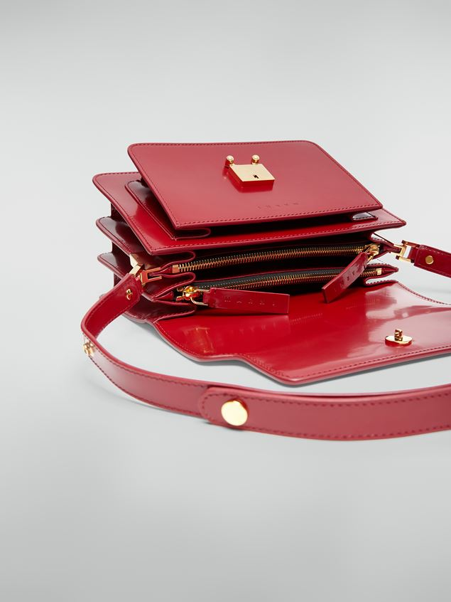 Marni TRUNK bag in red polished calfskin Woman - 5