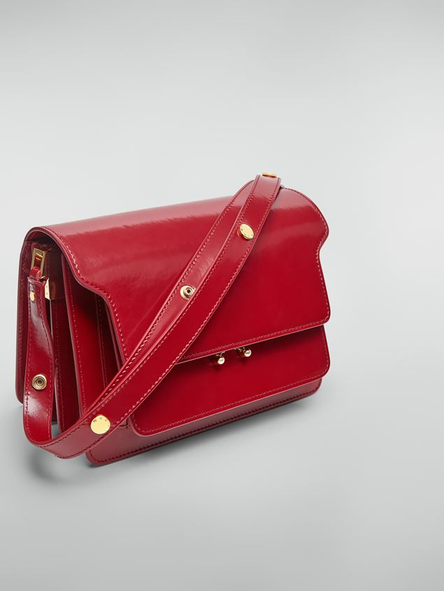 Marni TRUNK bag in red polished calfskin Woman - 4