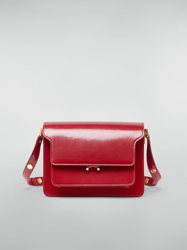 Marni TRUNK bag in red polished calfskin Woman - 1